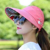 遮阳帽女可折叠帽子女夏天休闲百搭潮韩版春夏季防晒太阳帽遮阳帽