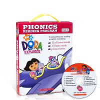 【全店300减100】英文原版 DORA THE EXPLORER PHONICS BOXSET 3 WITH CD 自