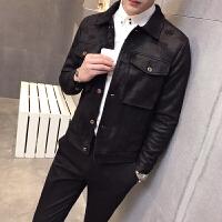 男装 秋冬 渐变时尚翻领大口袋保暖夹克衫 英伦潮茄克外套