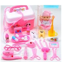 小医生玩具套装医疗箱打针护士男孩北美儿童医院过家家女孩听诊器
