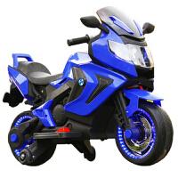 新款大号双驱摩托车车可坐人电动车音乐灯光男女宝宝玩具车双电双驱儿童摩托车2-8岁