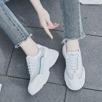 夏季透气网鞋女2018厚底运动鞋女网面休闲鞋跑步鞋小白鞋轻便女鞋