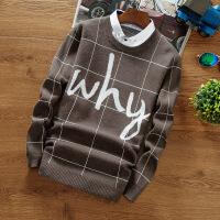 春秋季男士秋衣上衣服长袖t恤男装卫衣假两件针织衫衬衫领打底衫