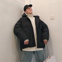 韩版连帽工作服加厚bf棉服潮流男士学生百搭保暖ins棉衣外套