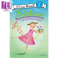 【中商原版】I Can Read Level 1 我可以读1级 粉红控 Pinkalicious Present 汪培�E