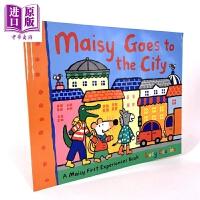 【中商原版】小鼠波波去市区 Maisy Goes to the City 低幼亲子英语启蒙绘本 lucy cousins