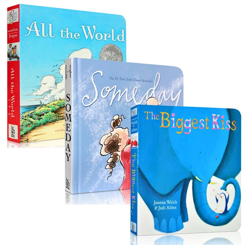 英文原版绘本 All the World Someday The biggest kiss温馨唯美的人生哲学纸板书3册情商启蒙阅读童书 亲子亲情故事2-3-4-5-6岁
