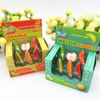 逼真盒装水果造型橡皮擦儿童创意学习用品小学生礼物圣诞礼品批发 款式随机