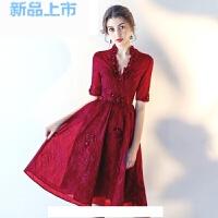 敬酒服新娘春季2018短款显瘦红色结婚新款晚礼服女宴会公主性感