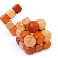木制魔方解锁玩具儿童趣味玩具迷宫挑战晋级竞赛游戏