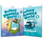 新版牛津自然拼读 Oxford Phonics World 1级别课本+练习册 含APP 牛津英语拼读世界新版OPW1