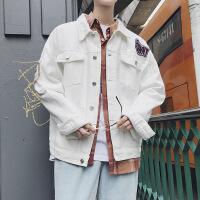 秋季牛仔夹克男外套潮流帅气牛仔衣男宽松休闲外套秋装上衣青少年