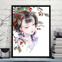 向日葵花填色数字油画diy油彩画 客厅大幅花卉风景手工绘装饰画 40*50钉好内框2.5cm厚 画板+颜料+画笔+