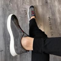 CUM 潮牌男鞋潮鞋运动男士皮鞋休闲鞋韩版潮流厚底一脚蹬懒人板鞋男