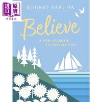 【中商原版】立体书:坚持信念 Believe: A Pop-up Book 低幼童书 亲子绘本 立体书 鼓励 追求梦想