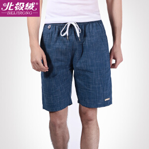 北极绒男士休闲短裤棉质沙滩裤运动五分家居裤宽松睡裤