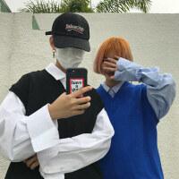 韩国INS同款经典百搭纯色针织毛衣马甲 男女款