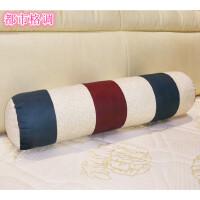 圆柱形糖果枕头圆柱形抱枕亚麻长条抱枕 床上靠垫沙发腰枕午睡枕 含芯可拆洗