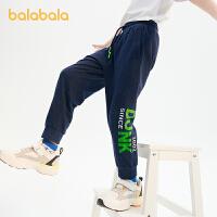 【品类日2件6折】巴拉巴拉男童裤子儿童长裤2021新款童装中大童男大童运动裤印花潮夏