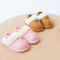 宝宝棉拖鞋男1-3岁秋季防滑儿童室内家居鞋软底女童冬天小孩托鞋