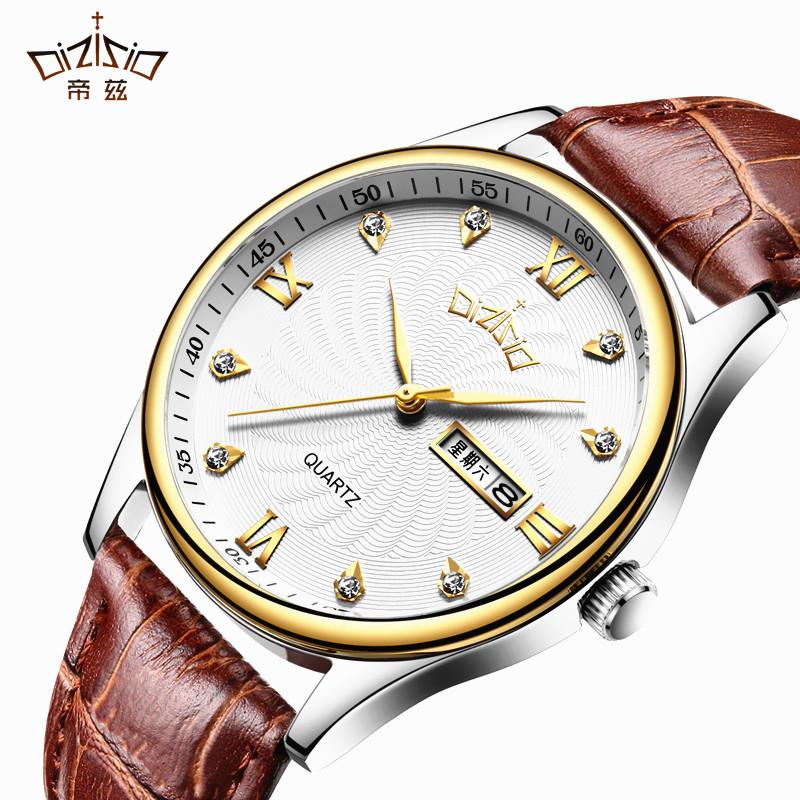 手表男士运动钢带石英学生皮带时尚潮流男表腕表