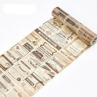 手帐胶带 整卷复古做旧海报报纸风手帐相册日记DIY装饰贴纸手工手撕胶带送朋友SN5685