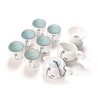 功夫茶具套装陶瓷器定窑办公室茶道家用泡茶茶艺喝茶创意简约陶瓷