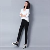2018新款高腰牛仔裤女秋季修身黑色弹力小脚裤韩版学生铅笔裤