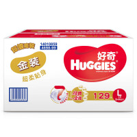 [当当自营]好奇(Huggies) 金装超柔贴身纸尿裤大号L129片(适合10-14公斤)