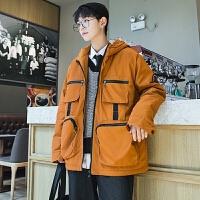 潮牌棉衣男冬季新款棉袄韩版连帽棉服青少年加厚外套学生男装