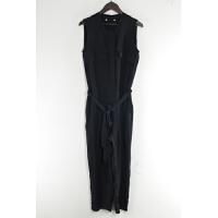 BA0960夏季新款韩版简约前拉链显瘦有腰带女纯色无袖连体裤