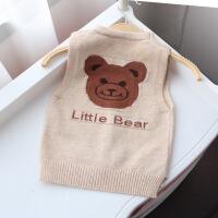 儿童马甲春秋男童毛线薄款开衫0-4岁新款宝宝外穿针织衫婴儿背心
