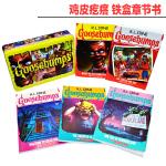 英文原版 鸡皮疙瘩 Goosebumps Limited Edition 5册铁盒装25周年纪念版 章节书