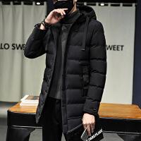 男士外套冬季新款潮流羽绒青年帅气中长款棉袄加厚冬装棉衣男