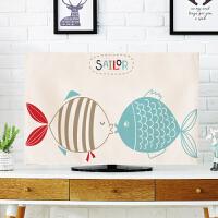 电视机套防尘罩液晶55寸电视防尘盖布简约布艺壁挂式60寸电视盖布