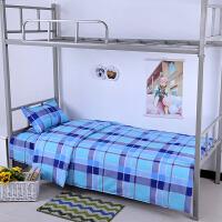 学生宿舍三件套3 纯棉被罩单人床单被套上下铺1.0m1.2米床上用品2