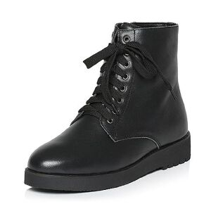 Teenmix/天美意专柜同款黑色牛皮女休闲靴(毛里)AL471DD5