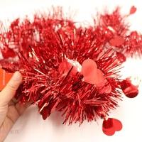 圣诞节装饰品场景布置毛条批发结婚婚庆用品彩条彩带新年年会晚会