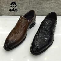米乐猴 潮牌男鞋2017秋新款正装商务休闲皮鞋鳄鱼纹男士单鞋男鞋