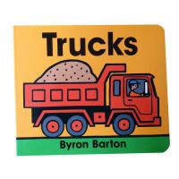 Trucks 纸板书 儿童启蒙英文原版绘本 育儿0至3岁 英文经典
