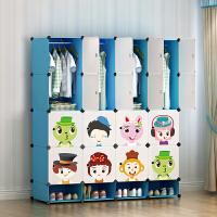 门扉 衣柜 儿童宝宝衣柜衣橱储物柜小孩婴儿卡通收纳柜塑料树脂简易衣柜