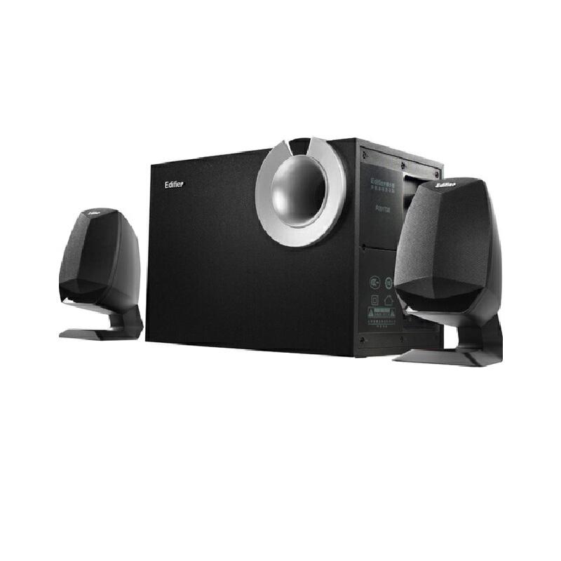 Edifier/漫步者 R201T08台式电脑音箱2.1低音炮重低音音响 家用 木质箱体 简约经典 结构严谨