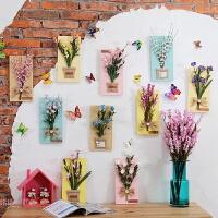 立体田园仿真花艺植物墙上装饰品创意家居电视墙面假花壁饰壁挂件