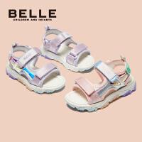 【169元任选2双】百丽童鞋儿童女孩凉鞋公主女2021新款夏季沙滩鞋女童鞋子休闲防滑男童凉鞋