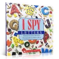 进口英文原版正版 I Spy Letters视觉大发现系列学字母单词3-5岁宝宝奇妙益智游戏书亲子家庭阅读锻炼提高观察