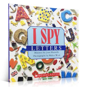 进口英文原版正版 I Spy Letters视觉大发现系列学字母单词3-5岁宝宝奇妙益智游戏书亲子家庭阅读锻炼提高观察力平装学乐分级绘本