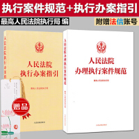人民法院办理执行案件规范+人民法院执行办案指引 赠书签 2册装