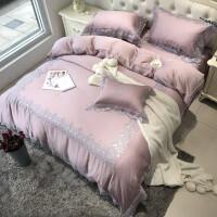 法式蕾丝天丝四件套色欧式公主风婚庆床上用品 凯瑟琳公主
