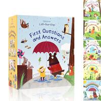 First Questions and Answers 我的第一个问题和答案 英文原版绘本 你问我答科学翻翻书 5册全套装 usborne出版社 儿童宝宝启蒙