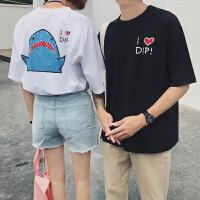 情侣装夏装2018新款短袖女学生宽松韩版ulzzang百搭T恤bf半袖上衣